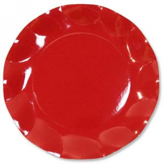 10 ASSIETTES ROUGE
