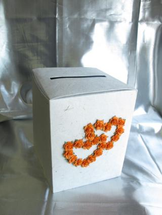 TIRELIRE DOUBLE COEUR  ORANGE